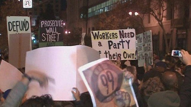 Occupy protesters in Los Angeles