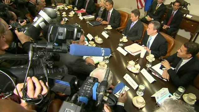 World leaders hold news conference