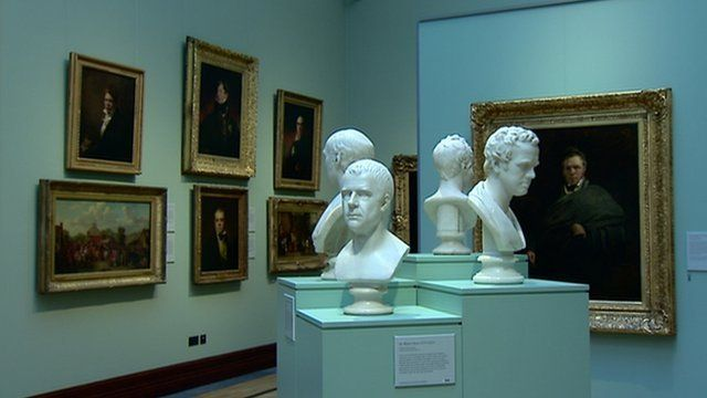 A display in the Scottish National Portrait Gallery