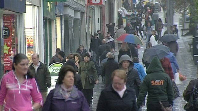 People on a Plymouth street