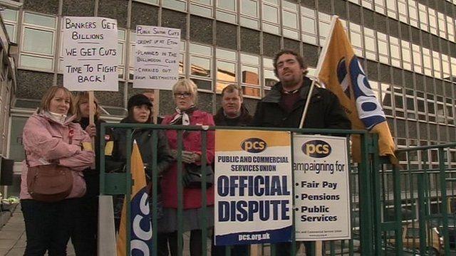 Public sector strikers in Carlisle