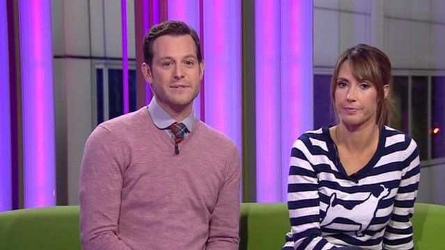 Matt Baker and Alex Jones of The One Show