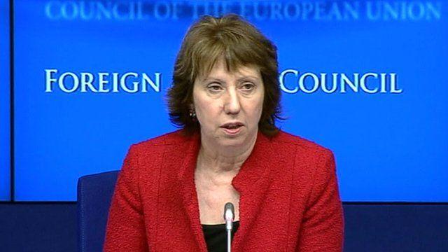 EU foreign policy chief, Catherine Ashton