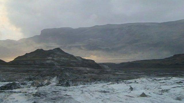 Mighty Katla volcano in Iceland