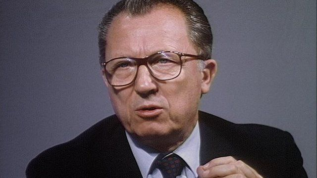 The former European Commission president, Jacques Delors.