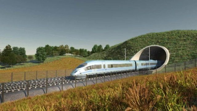 Computer generated image of the planned high speed train.