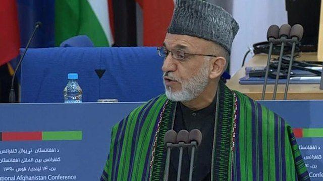 Afghan President Hamid Karzai in Bonn