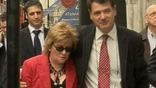 Christine Laird arriving at the High Court in 2009