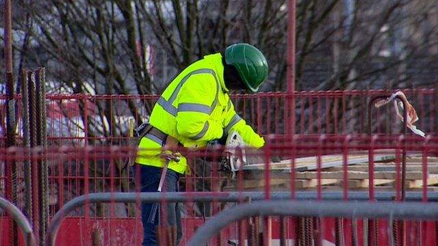 Man working at a construction project
