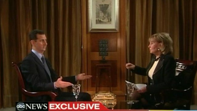Bashar al-Assad speaks to Barbara Walters