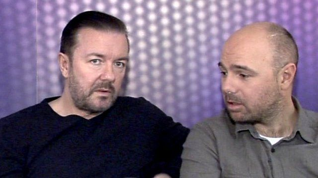 Ricky Gervais and Karl Pilkington