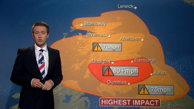 Christopher Blanchett and the weather map