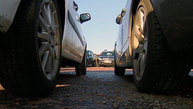 Cars in a car park