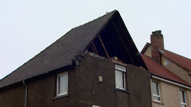 House damaged in a storm