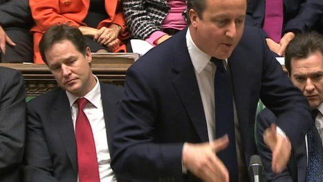 Nick Clegg (l) and David Cameron