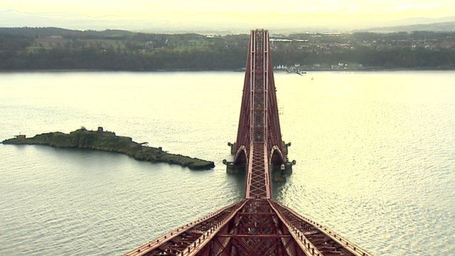 View from the top of the Forth Bridge