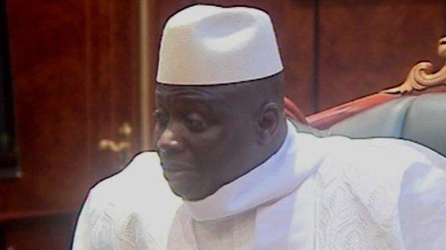 Gambia's president of 17 years, Yahya Jammeh