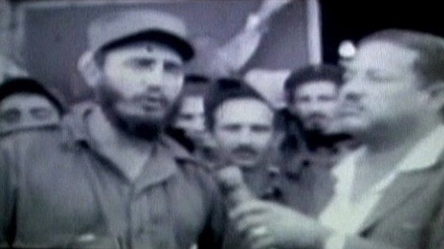 Fidel Castro during a 1959 interview