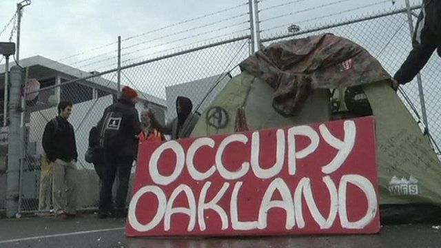 Occupy Oakland sign