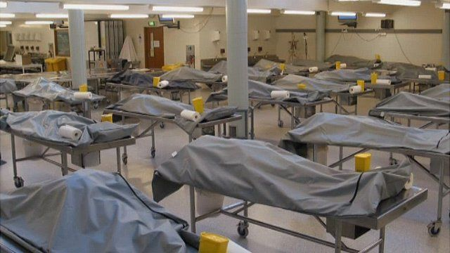 Bodies in classroom