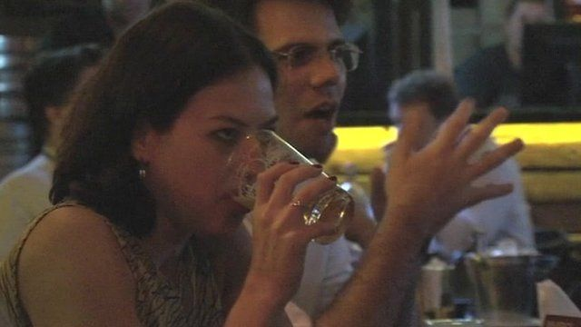 Young people drinking