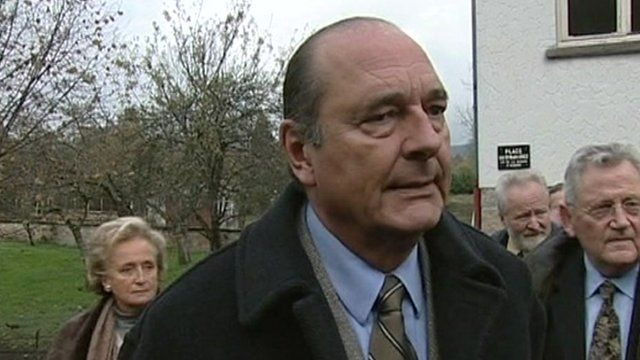 Former President Jacques Chirac