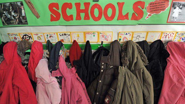 Primary school children's coat rack