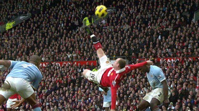 Wayne Rooney's flying overhead kick