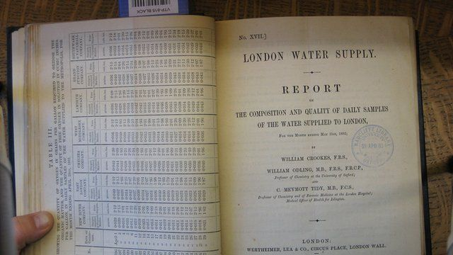 Record of Thames water tests