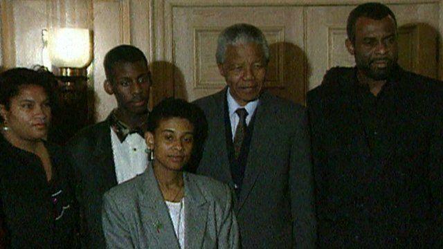 Nelson Mandela and Stephen Lawrence's family