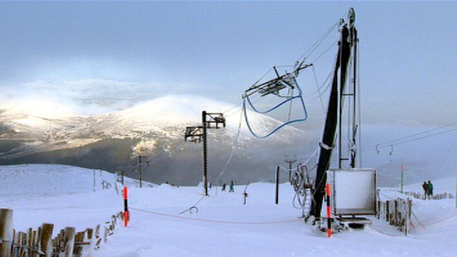 Chairlift on a ski slope