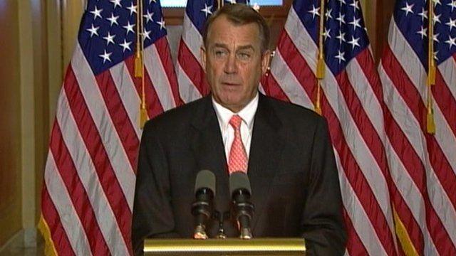 House of Representatives vote due later, Speaker John Boehner