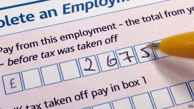 HMRC tax form