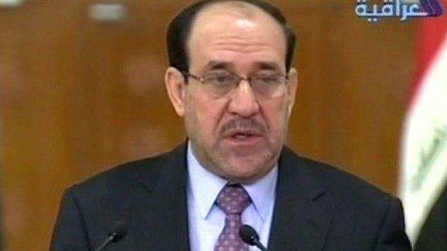 The Iraqi Prime Minister Nouri al-Maliki