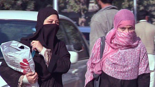 Veiled women in Peshawar