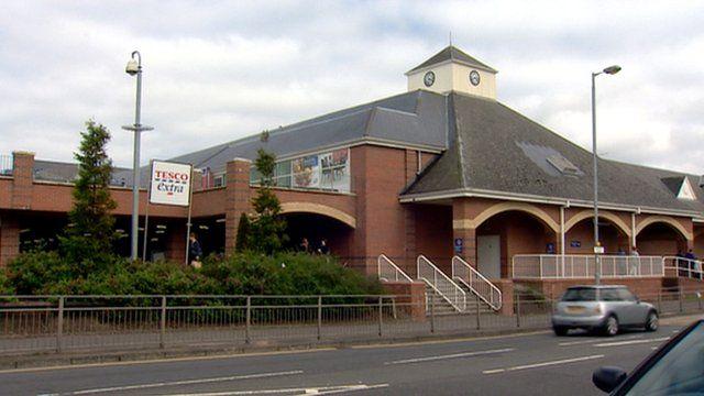 Tesco store in Greenock