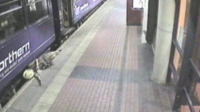 CCTV image at Barnsley station