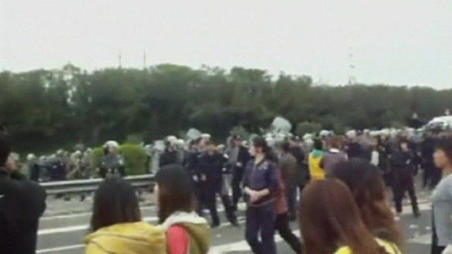 Protests in Guangdong province