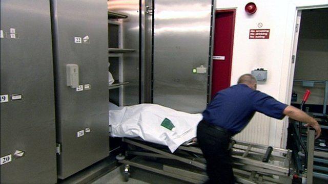 Body in a mortuary