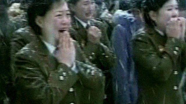 North Korean art troupe members