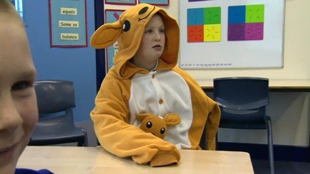 Child dressed as a kangaroo