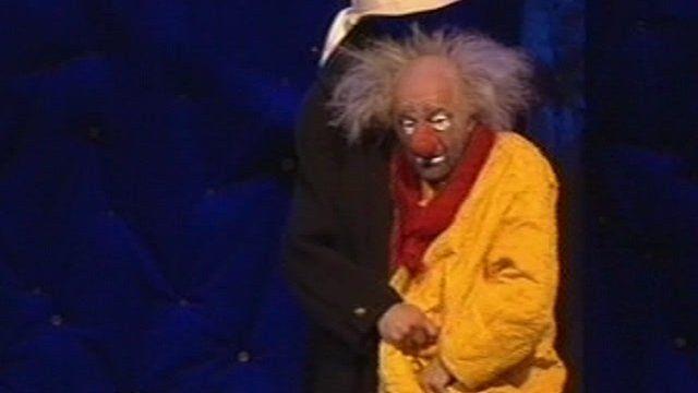 Russia's famous clown in London