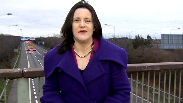 The BBC's Alexandra Mackenzie reports from the M4 in Middlesex