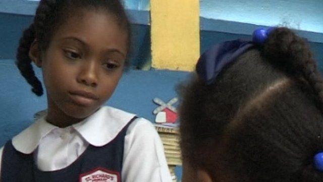 Black jamaican teen having at school apologise