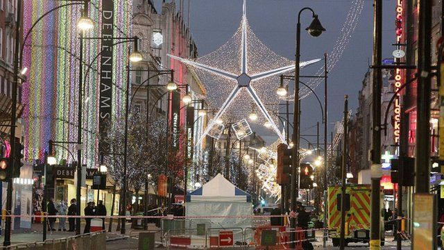 Oxford Street in London, after it was sealed off following Monday's stabbing