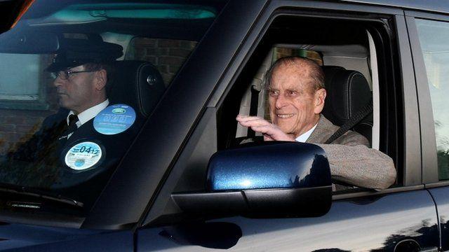 The Duke of Edinburgh leaves hospital and returns to Sandringham estate in Norfolk
