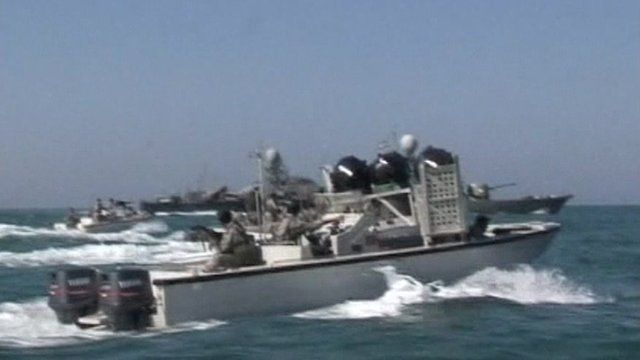 Iran patrols the waters of the Persian Gulf.