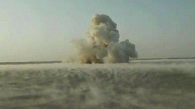 The explosion in the desert
