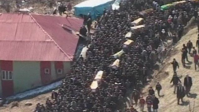 Funeral procession in Turkey