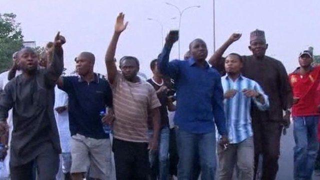 Protesters in Abuja
